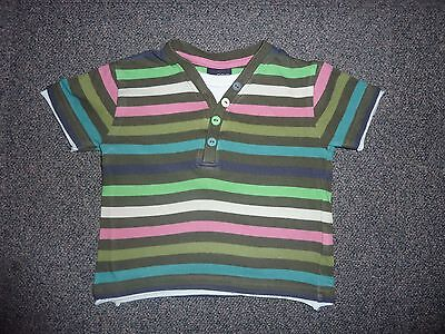 Boys Next striped short sleeved t shirt age 9 - 12 months