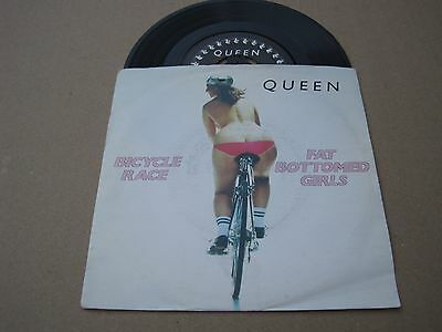 "Queen- Bicycle Race- Fat Bottomed Girls 7"" Vinyl Single Rare Italian Copy Rock"