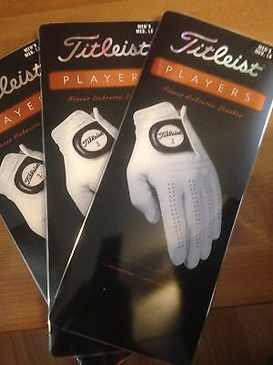 3 Brand New TITLEIST PLAYERS golf gloves MEDIUM LARGE - fits left hand