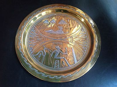 Copper And Brass Metal Decorative Egypt Plate