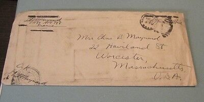 1919 US Army Lieutenant AEF Censored Letter APO 798 Rumors Revised 23rd Psalm