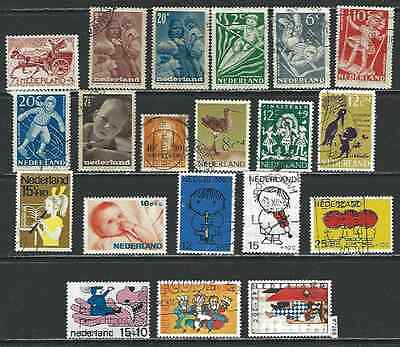 #7168 NETHERLANDS Lot of Semi Postal Stamps Used & Mint