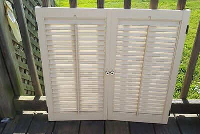 "Colonial Wood Interior Louver Window Shutters - 27 1/2"" W x 25 1/2"" T"