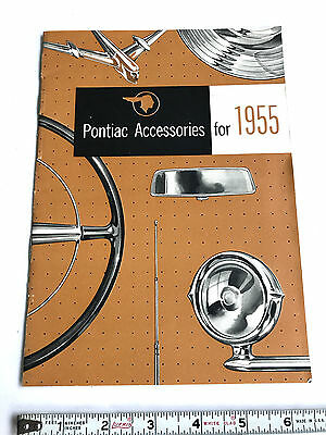 1955 Pontiac  Accessories Dealer  Sales Brochure Original