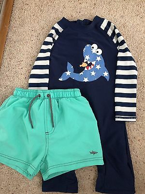 Boys Swimsuit and Shorts 2-3 years Little Rebel & F&F