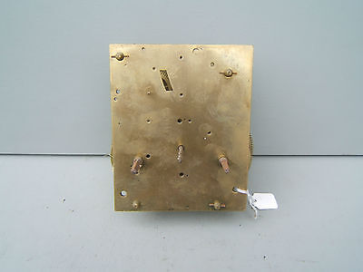 "Fusee? clock movement  6.5"" x 5.25""x 2.5"" approx  Ref D"
