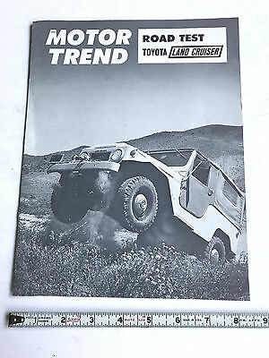 1963 Toyota Land Cruiser  Fj40  Factory  Sales Brochure Motor Trend Road Test
