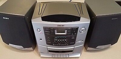 Sony CFD-Z500 Boombox Portable Cassette Tape CD Player AM/FM Stereo Radio VGCond