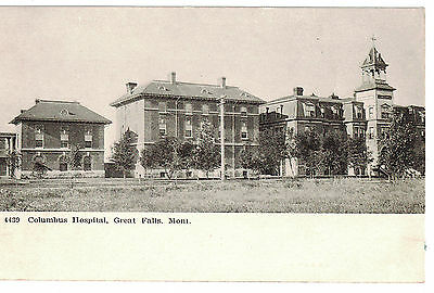 U.s.a. Vintage Photo Postcard Montana : Columbus Hospital Great Falls : Mont