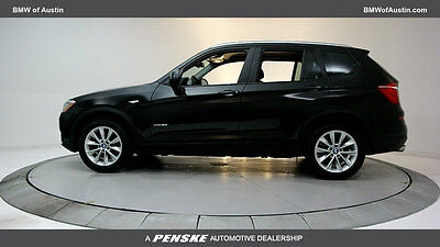 2017 BMW X3 xDrive28i Sports Activity Vehicle xDrive28i Sports Activity Vehicle 4 dr SUV Automatic Gasoline 2.0L 4 Cyl BLACK