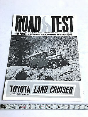 1966 Toyota Land Cruiser Fj40 Hard Top Factory Sales Brochure Road Test Magazine