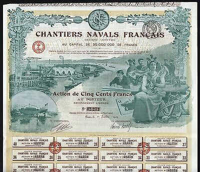 1918 Paris, France: Chantiers Navals Francais - French Shipyard