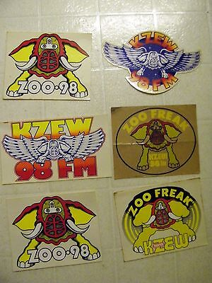 KZEW 98fm 6 stickers included
