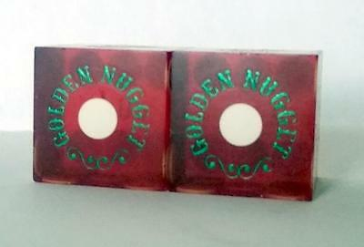 Pair Of Vintage 1990's Las Vegas Golden Nugget Hotel Casino Green Numbered Dice