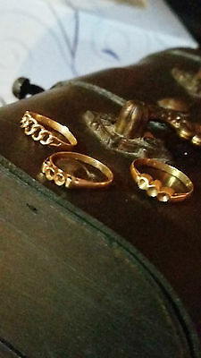 portuguese 14k gold baby rings not scrap