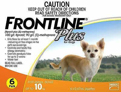 Frontline Plus Stock Up Special Fleas 6Mths 0/10Kgs Dogs/cats 8Mths $36.50