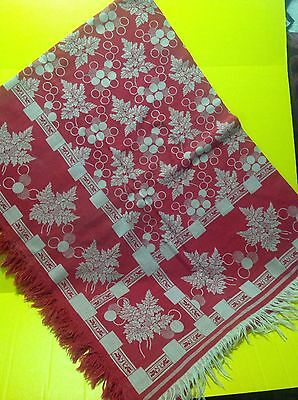 Turkey Red Antique Damask Tablecloth