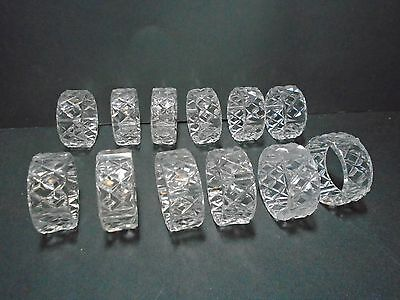 Napkin Rings Set of 12 Clear Round Napkin Holders or Rings