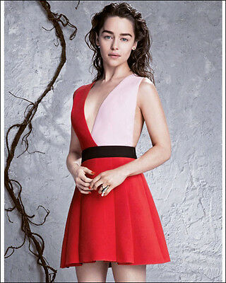 Emilia Clarke 8 X 10 Photo Daenerys Targaryen Game Of Thrones Beautiful Actress