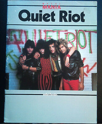 Metal Mania Photo Book	Quiet Riot	 1984 Robus Books w/ poster Rare Randy Rhoads