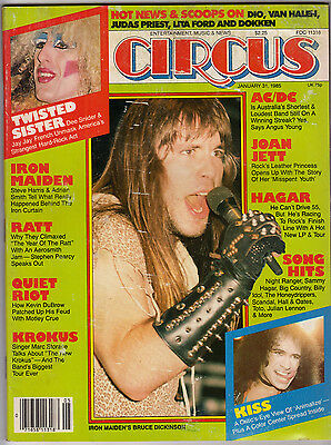 Circus Magazine January 31 1985 Iron Maiden Ratt Quiet Riot Krokus AC/DC KISS