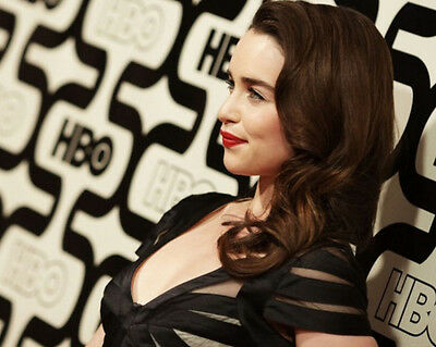 "Emilia Clarke 10"" X 8"" Photo Daenerys Targaryen Game Of Thrones Stunning Actress"