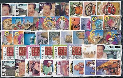 [G106010] Zambia Good lot of Very Fine MNH stamps