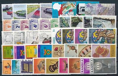 [G106011] Zambia Good lot of Very Fine MNH stamps