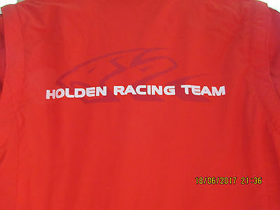 Holden Commodore Racing Team Jacket Size Large Fleece Lining Zip off Sleeves