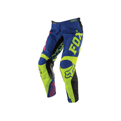 Fox Youth Girls 180 Mx Motocross Pants Black Blue - Size 24