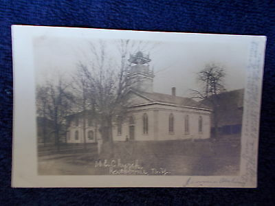 Vintage Rppc Rathbone Ny  M.e. Church  Post Card New York