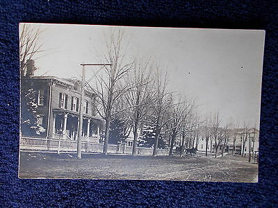 Vintage Rppc Street  In Prattsburg Ny Post Card New York