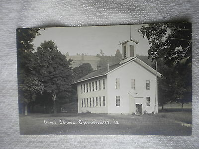 Vintage Rppc Union School Greenwood Ny Post Card  New York