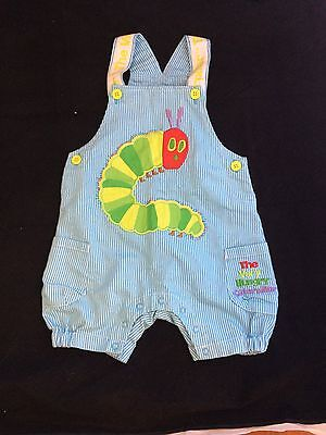 The Very Hungry Caterpillar Overalls 6-12 Worn Once