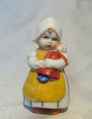 ANTIQUE GERMANY*ALL BISQUE DUTCH DOLLw/ her DOLL*MIGNONETTE DOLL*GERMAN DOLL*