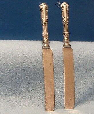 """Set 2 1847 Rogers Bros.1895 Lotus Pattern 8 3/4"""" Silver Plate Butter Knives"""