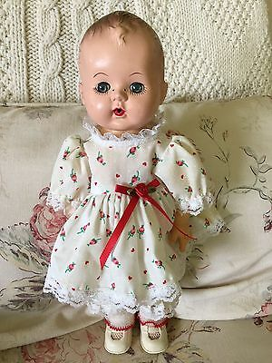 """Vintage Bay Doll 13"""" Unmarked with Rubber Body"""
