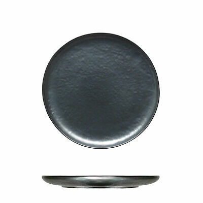 12x Tablekraft Vilamoura Metallic Graphite Round Coupe Plate 220mm