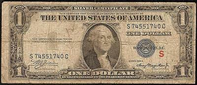 1935A $1 One Dollar Bill Red S Experimental Silver Certificate Old Paper Money