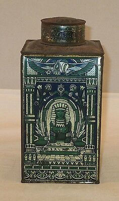 Antique J.S. Fry & Sons London Fry's Cocoa Extract Tin w/ Egyptian Graphics