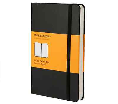 Brand New Moleskine Black Pocket Ruled Notebook Hard Cover