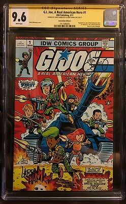 CGC SS 9.6 GI Joe A Real American Hero 1 Convention Variant Signed Larry Hama +1