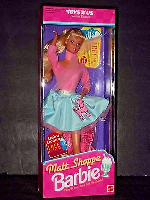 1992 Mattel Malt Shoppe Barbie  w/ Poodle Skirt, Expired Dairy Queen Coupon 4581