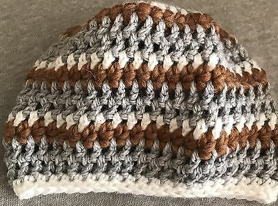 "infant baby Boy crochet hat cap beanie stripes groovy jsuey123 14""  Gift"