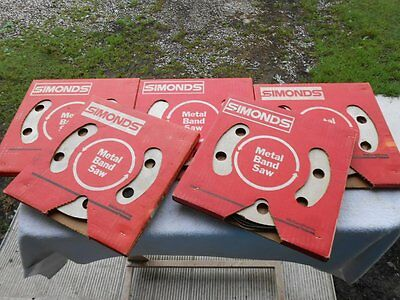"SIMONDS 5764 Metal Band Saw Blade Lot x5 Boxes ~ 1/4"" & 3/8"" Wide ~ 6 & 14 Tooth"