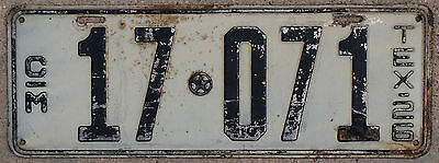 1926 Texas COMMERCIAL TRUCK license plate #17-071