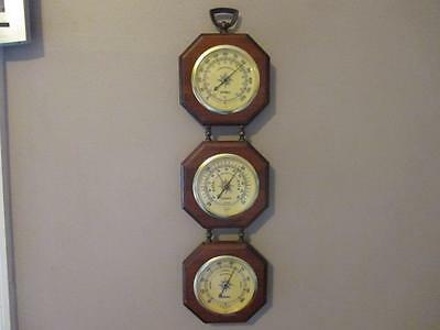 Vintage Springfield Thermometer Barometer Humidity Wall Mount Made in USA