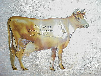 Vintage tin advertising DeLaval cream separator cow #2