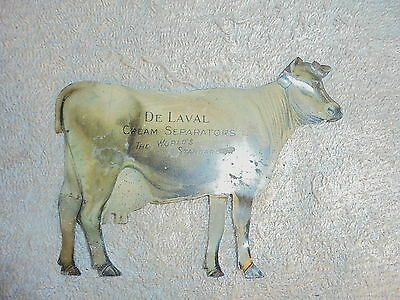 Vintage tin advertising DeLaval cream separator cow #3