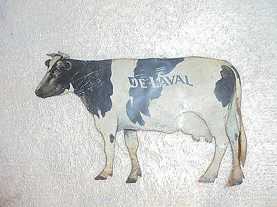 Vintage tin advertising DeLaval cream separator cow #1